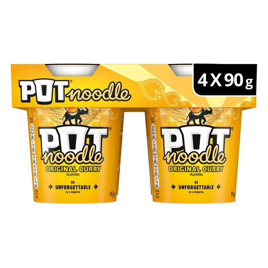 image 1 of Pot Noodle Original Curry 4 X 90G