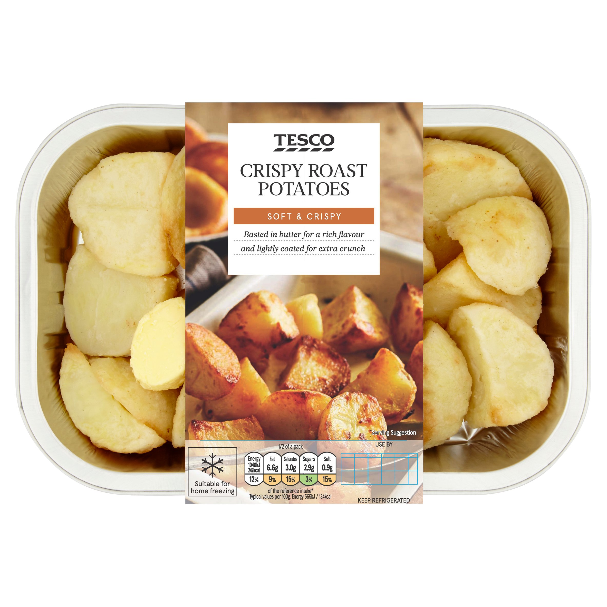 Tesco Crispy Roast Potatoes 450G