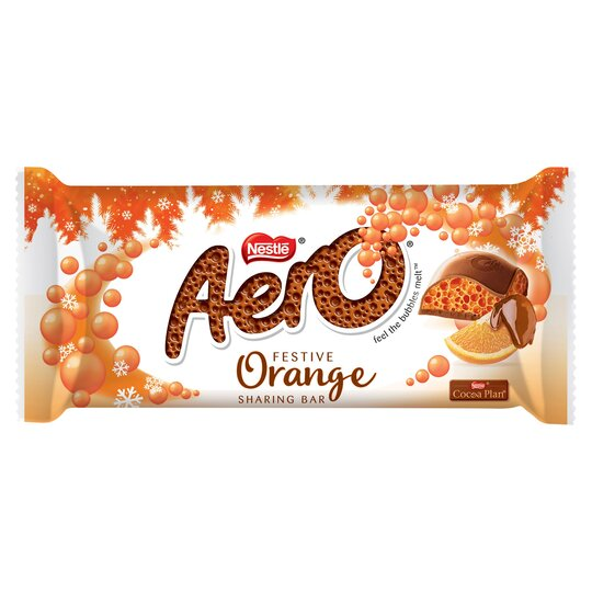 Aero Festive Orange Chocolate Sharing Bar 90G