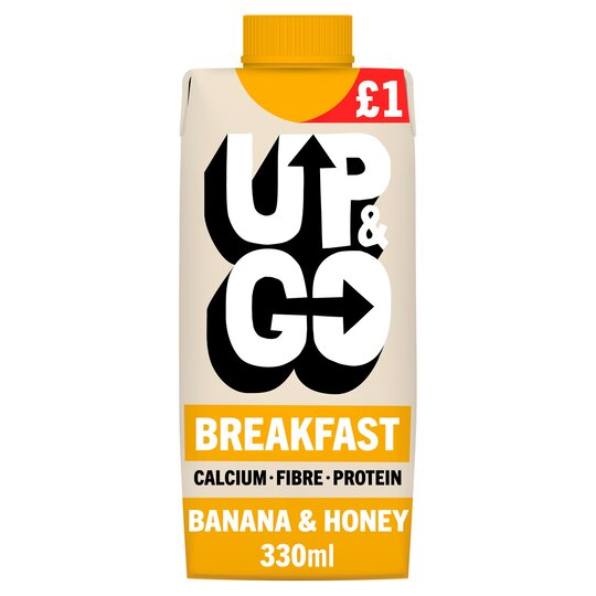 Up&Go Breakfast Drink Banana & Honey 330Ml