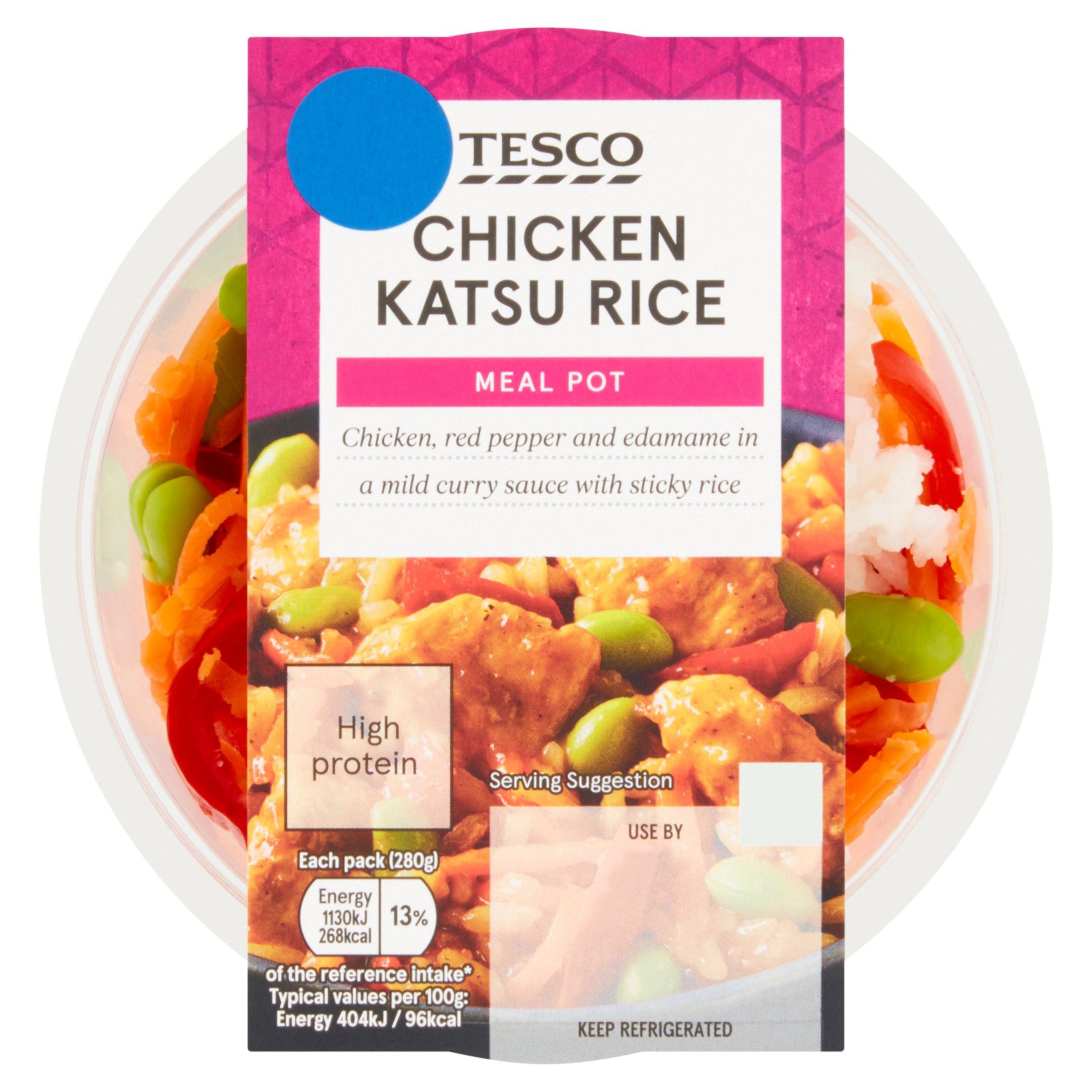 Tesco Chicken Katsu Rice Meal Pot 280G