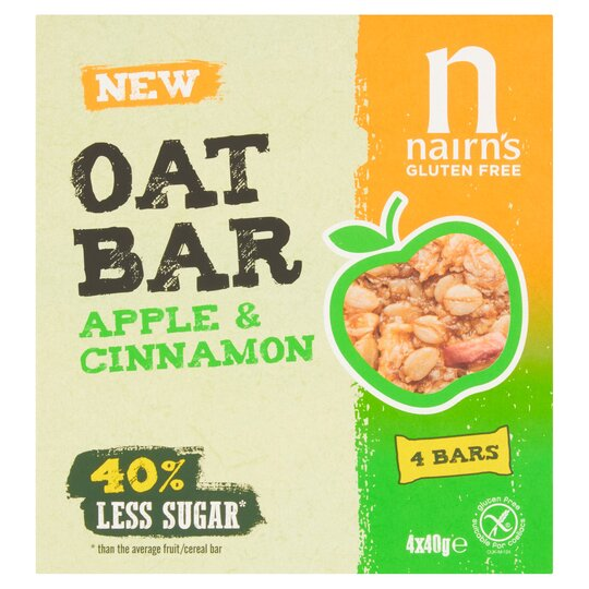 Nairns Gluten Free Oat Bar Apple & Cinnamon 160G