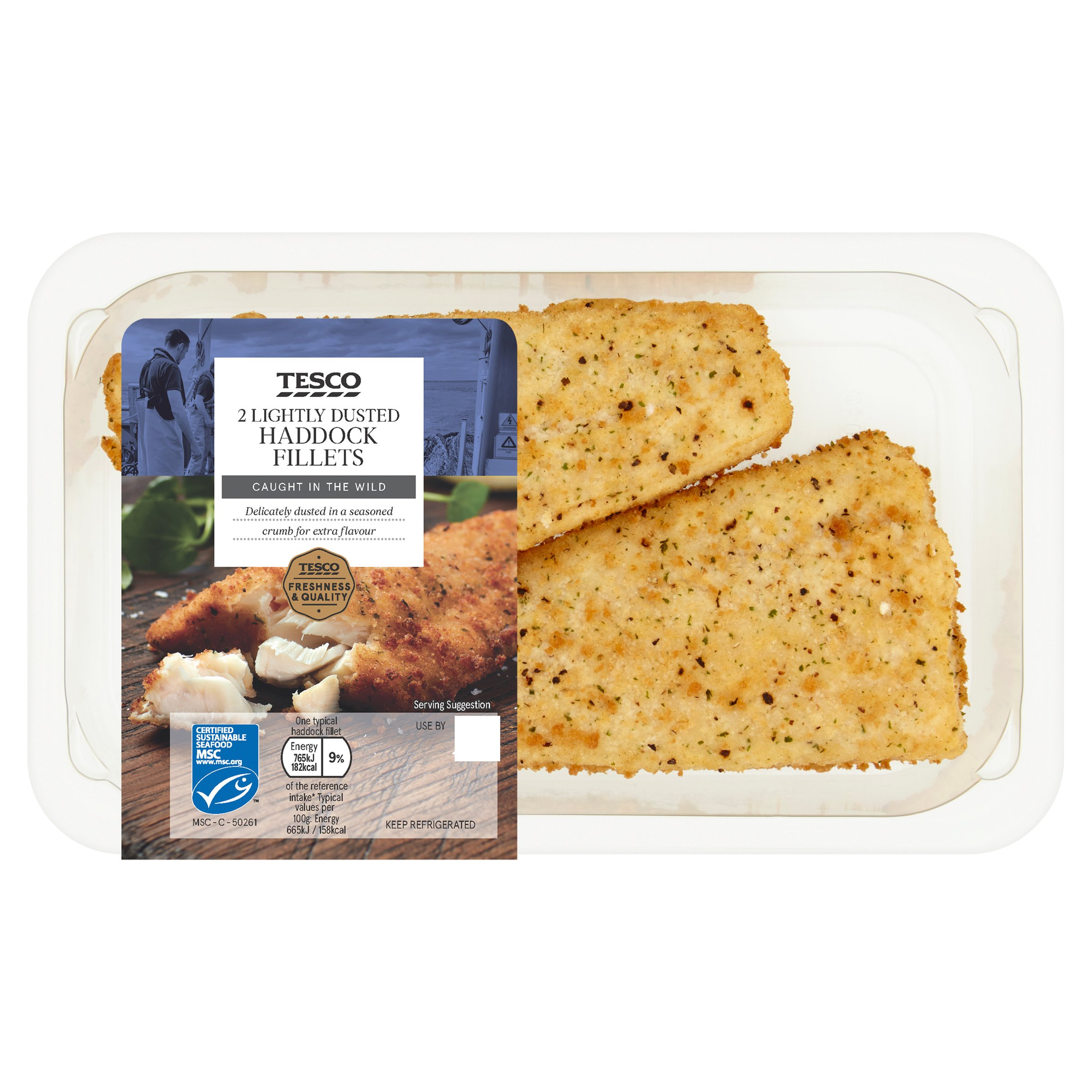 Tesco Lightly Dusted Haddock Fillets 255G