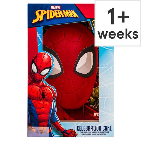 Amazing Disney Spiderman Celebration Cake Tesco Groceries Funny Birthday Cards Online Aboleapandamsfinfo