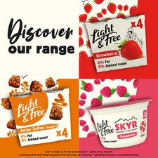 image 4 of Light & Free Greek Style Yogurt White Chocolate 4X115g