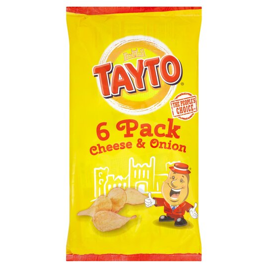 Tayto Cheese & Onion Potato Crisps 6S 150G
