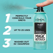 image 2 of L'oreal Magic Retouch Root Touch Up Black 75Ml