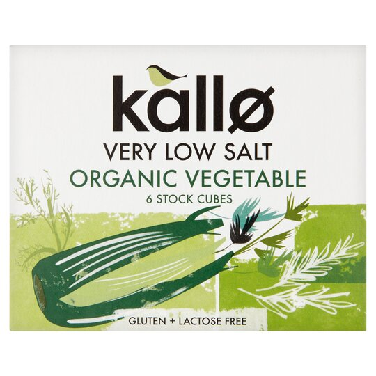 Kallo Very Low Salt Vegetable Stock Cube 60G