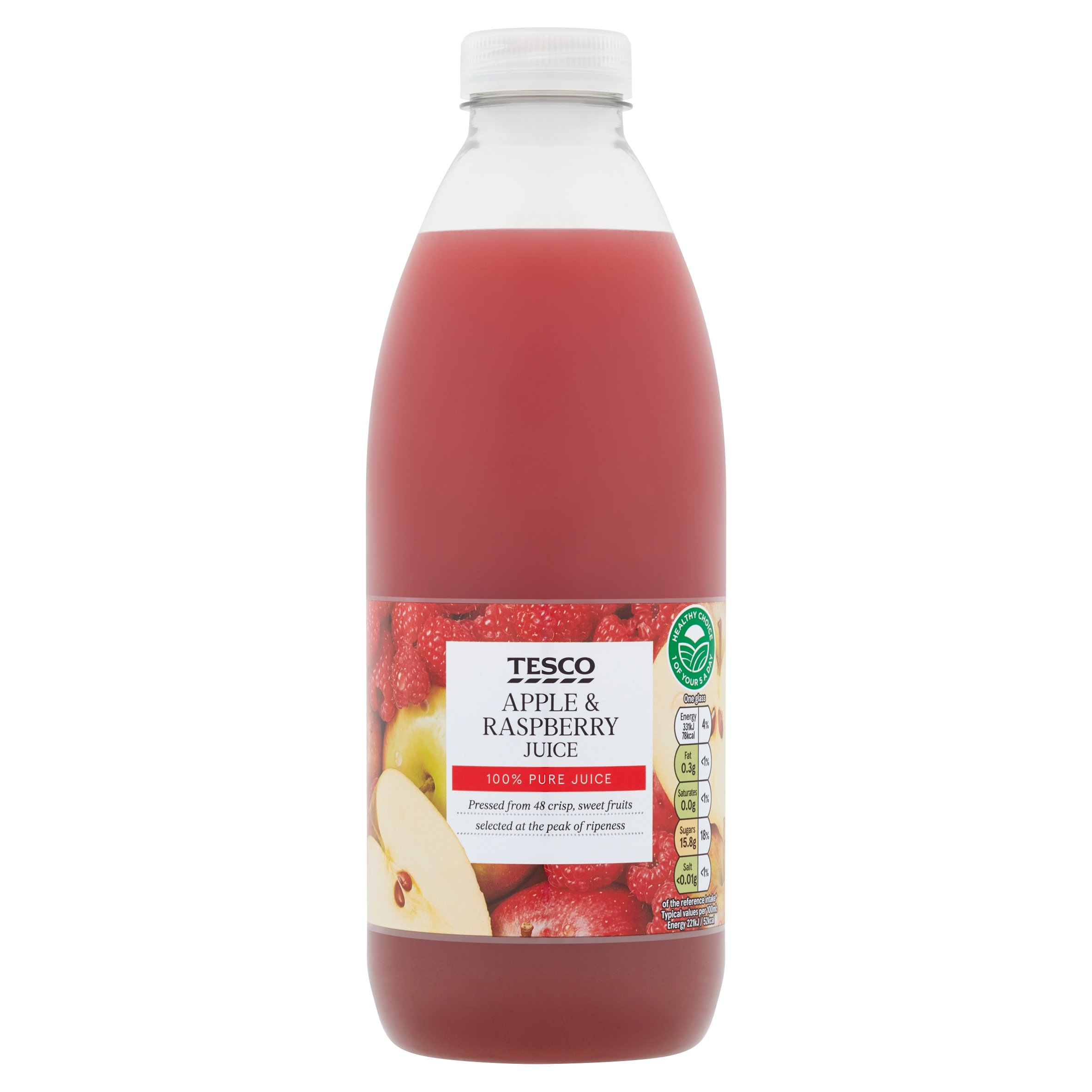 Tesco 100% Pure Pressed Apple & Raspberry Juice 1L