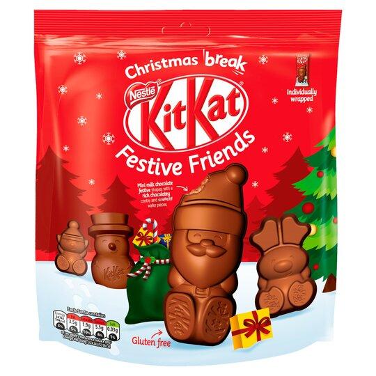 Kit Kat Festive Friends Milk Chocolate Shapes 220G