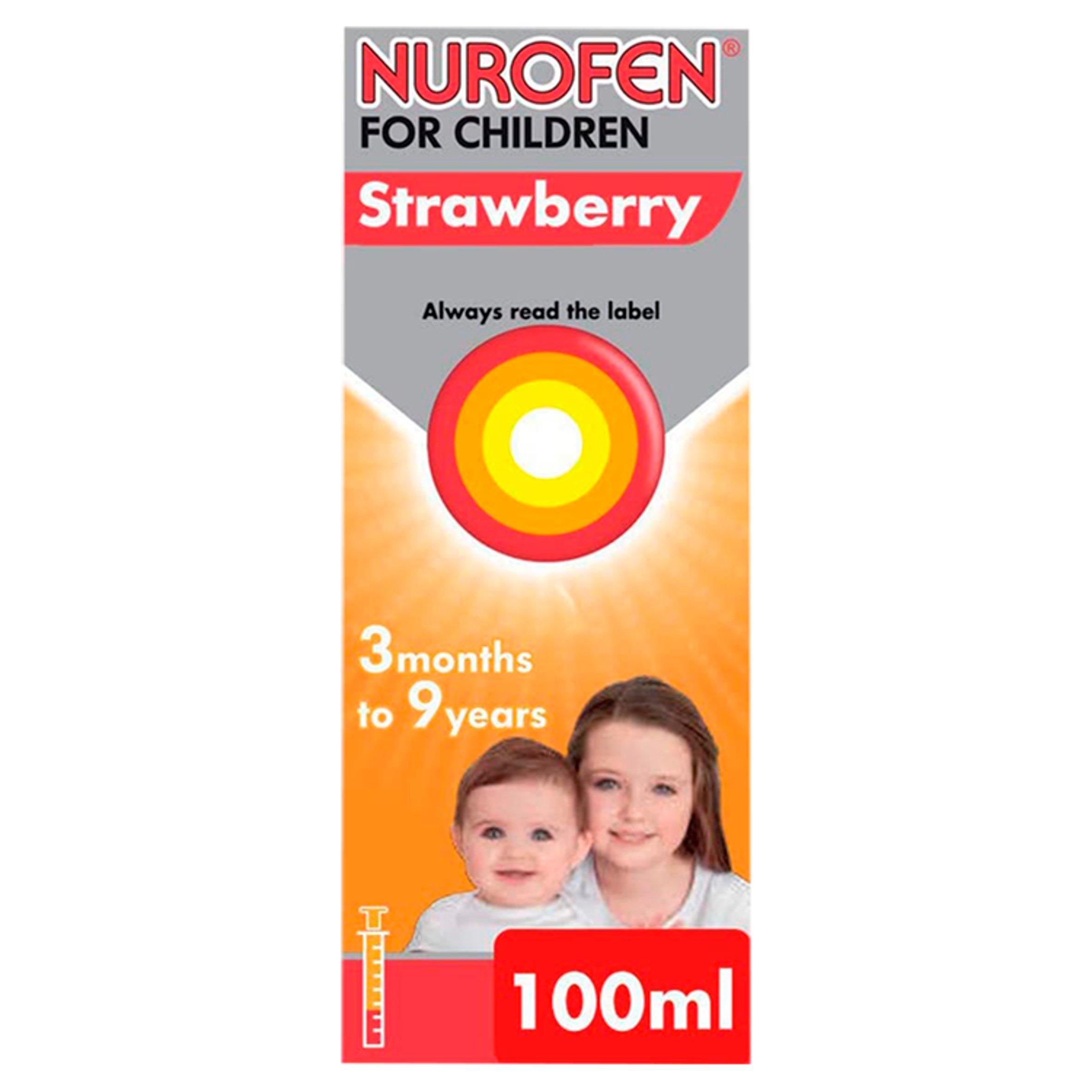 Nurofen For Children Strawberry 100Ml