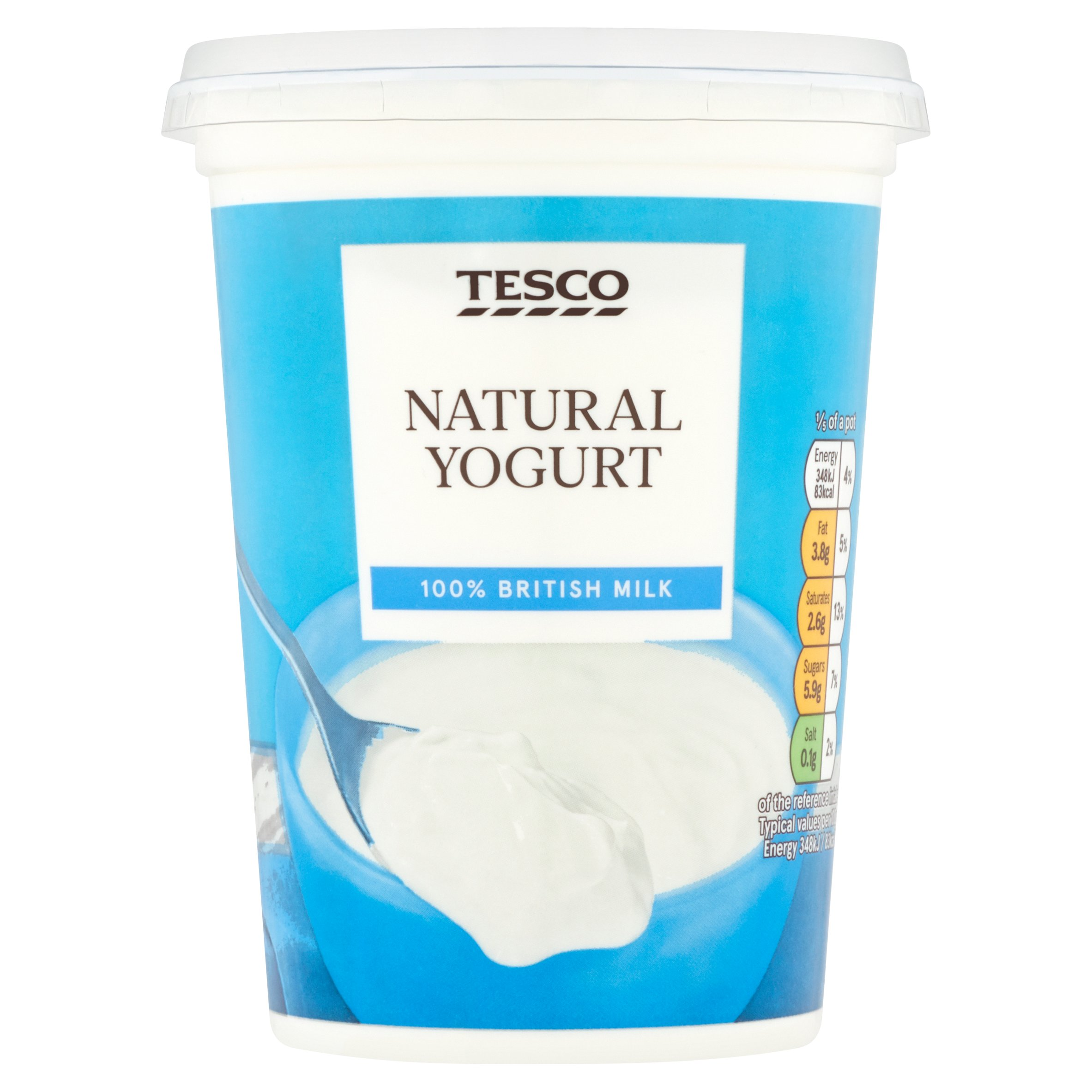 Tesco Natural Yogurt 500G