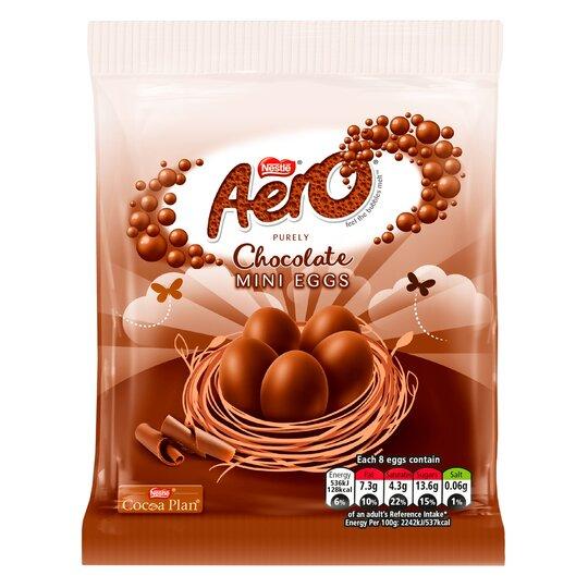 Aero Milk Chocolate Mini Eggs Bag 70G