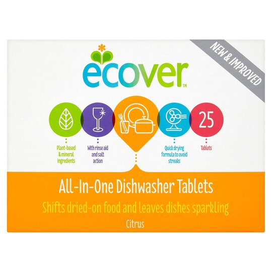 Ecover All In 1 Dishwasher Tablets 25'S