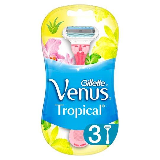 image 1 of Gillette Venus Tropical Disposable Razors 3Pack