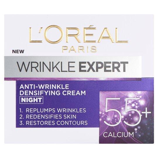 image 1 of L'oreal Wrinkle Expert 55+ Night Cream 50Ml