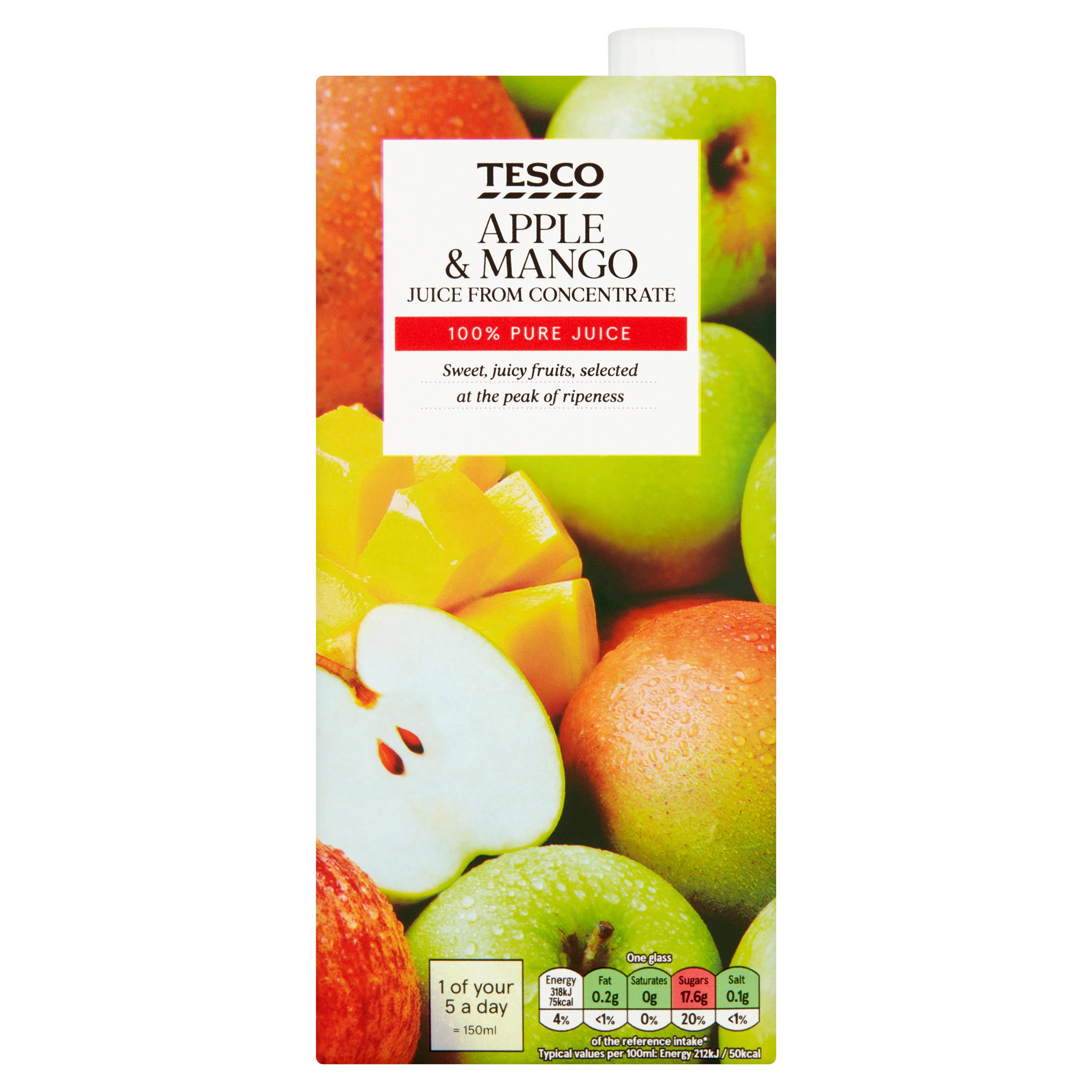 Tesco Apple And Mango From Concentrate 1 Litre