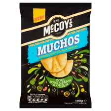 image 1 of Mccoy's Muchos Sour Cream & Onion 180G