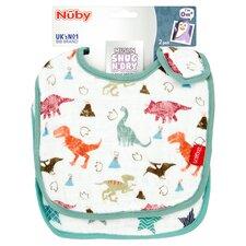 image 1 of Nuby Muslin Bibs Twinpack