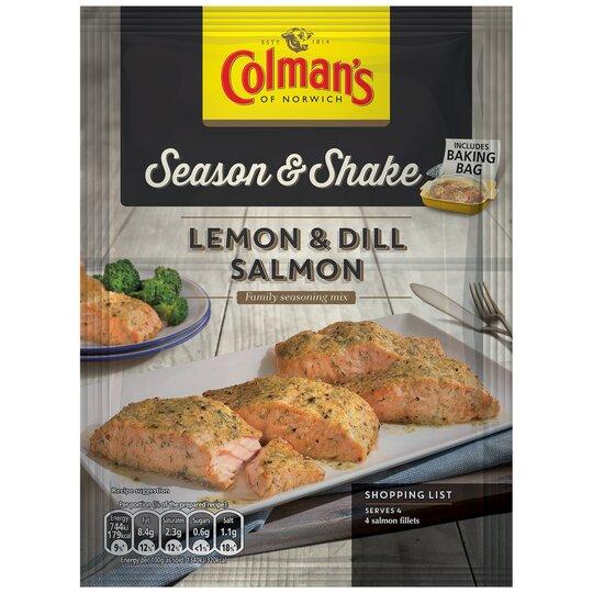 Colman's Season And Shake Lemon & Dill Salmon 18G
