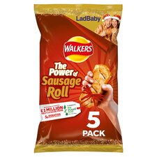 image 1 of Walkers Sausage Roll Flavour Crisps 5X25g