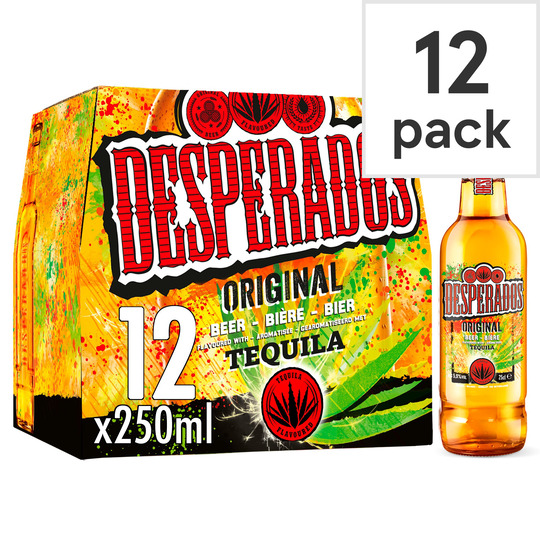Desperados Tequila Flavoured Beer 12x250ml Tesco Groceries