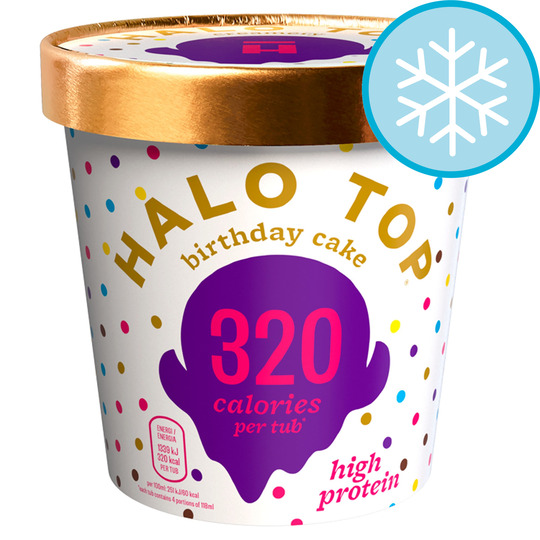 Admirable Halo Top Birthday Cake Ice Cream 473Ml Tesco Groceries Funny Birthday Cards Online Inifodamsfinfo