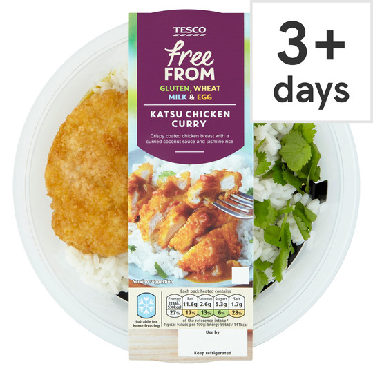 Tesco Free From Katsu Chicken Curry Rice 400g