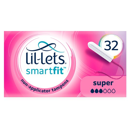 Lil Lets Non Applicator Super Tampons 32 Pack