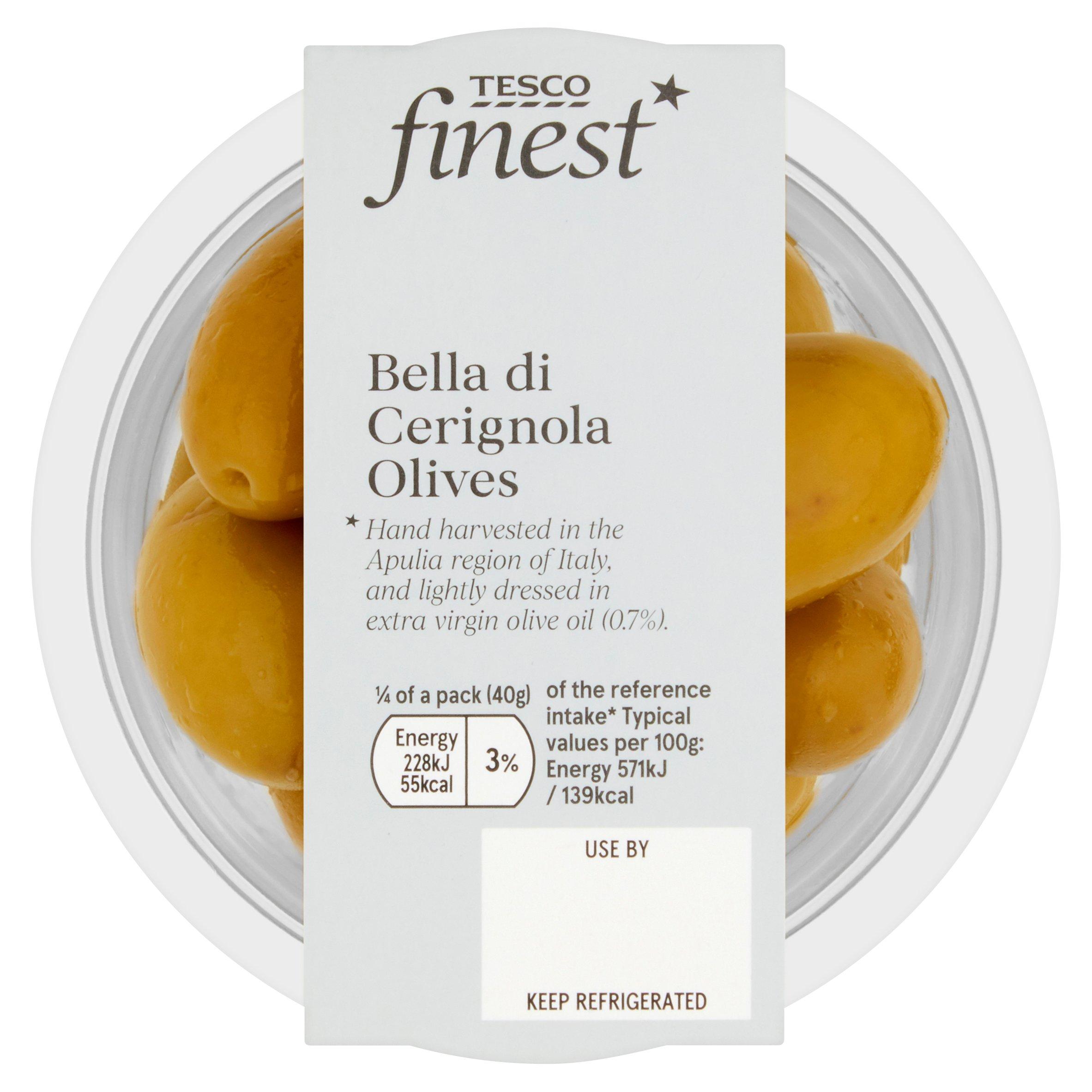 Tesco Finest Bella De Cerignola Olives 160G