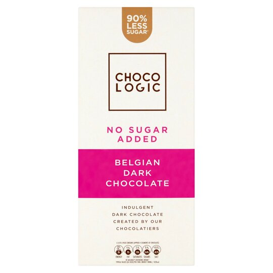 Chocologic No Added Sugar Dark Chocolate 80g