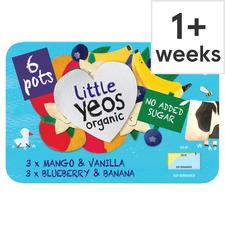 image 1 of Yeo Valley No Added Sugar Kids Yogurts Selection 6X42g
