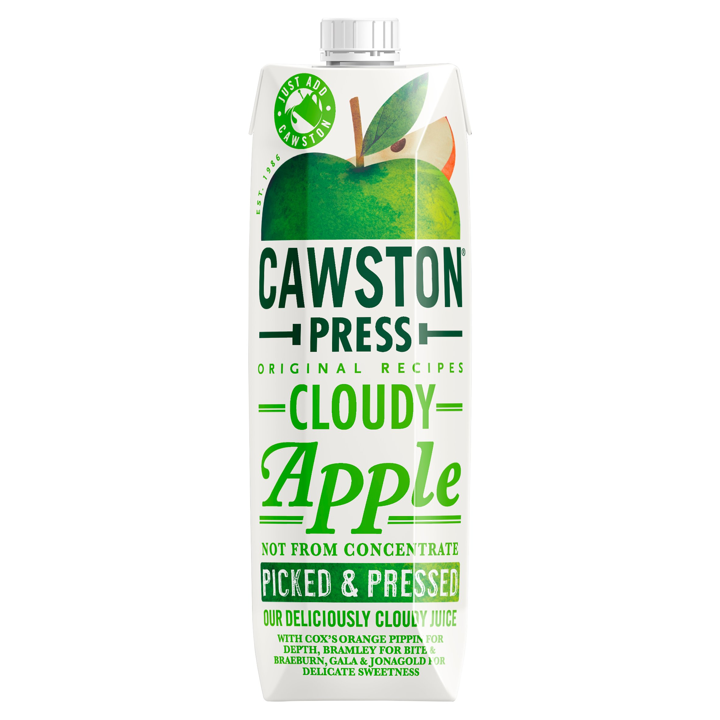 Cawston Press Cloudy Apple Juice 1Ltr