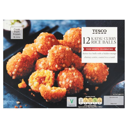 Tesco 12 Katsu Curry Rice Balls 240g