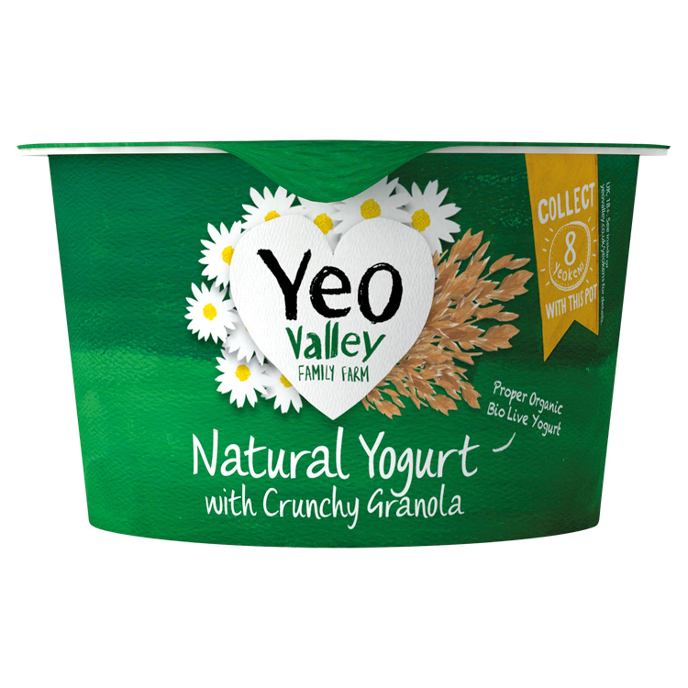 Yeo Valley Organic Yogurt With Crunchy Granola 135G