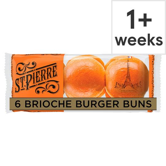 image 1 of St Pierre 6 Brioche Burger Buns