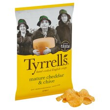image 2 of Tyrrells Crisps Mature Cheddar & Chive 150G