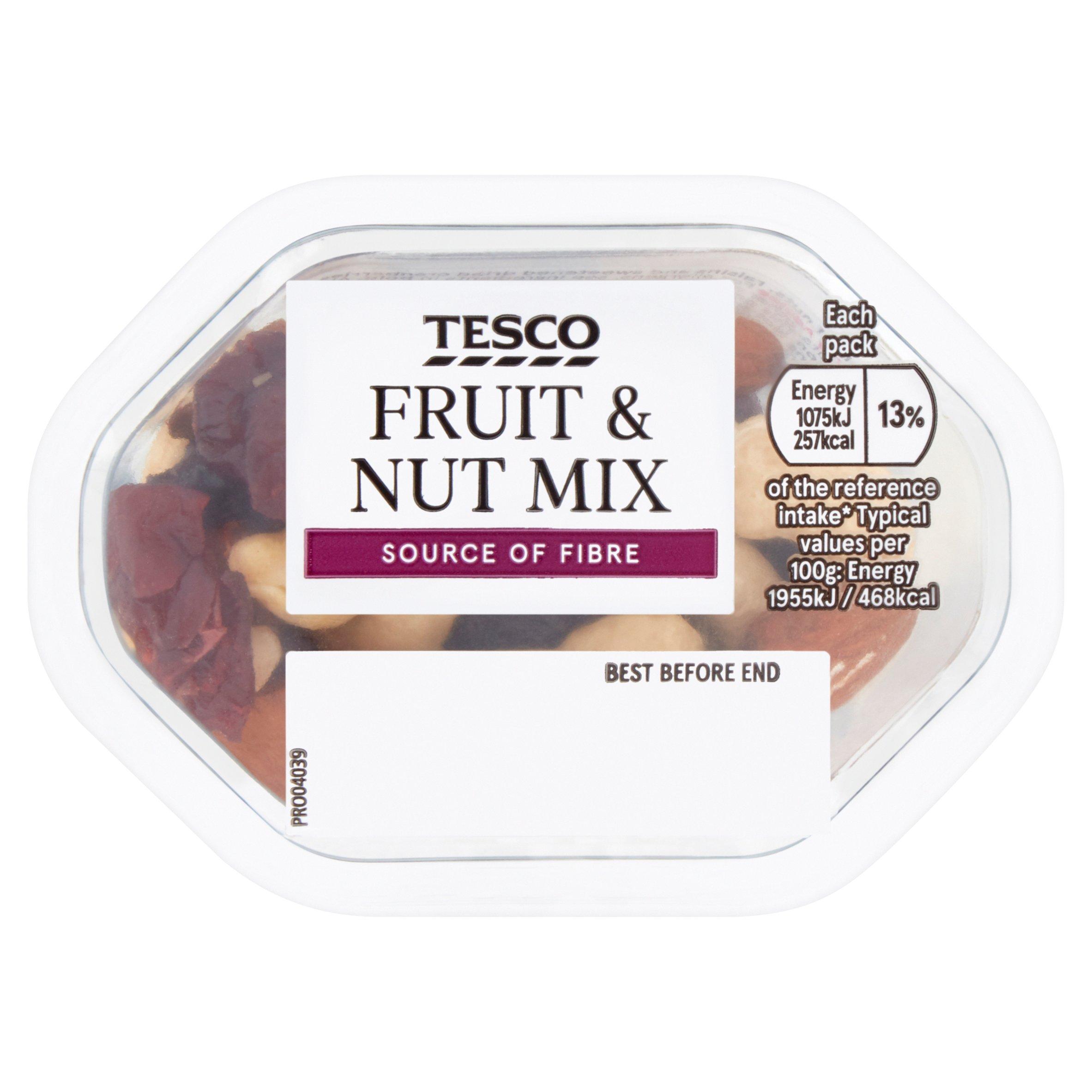 Tesco Fruit & Nut Snack Pot 55G