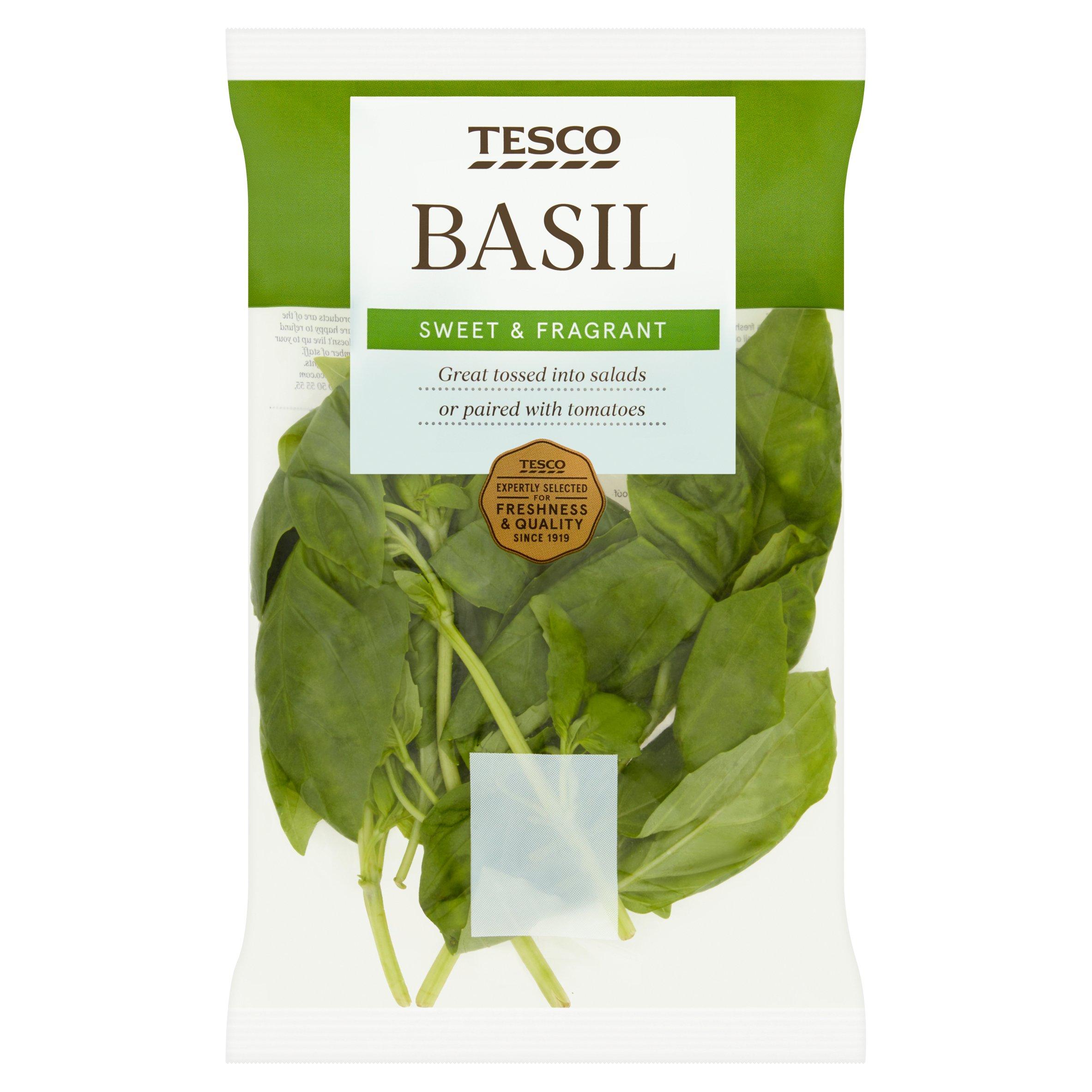 TESCO > Fresh Food > Tesco Cut Basil 30G