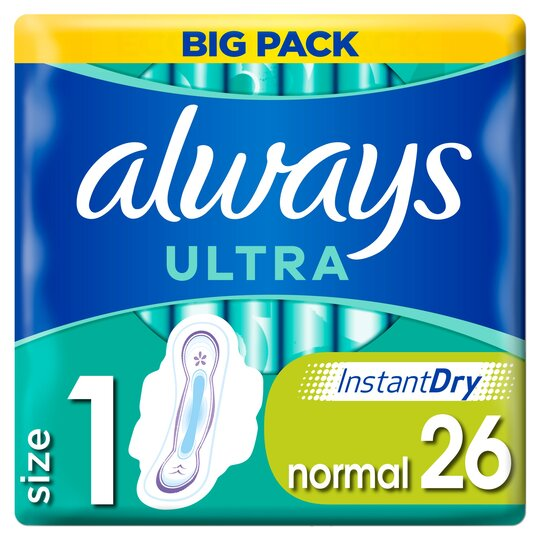 image 1 of Always Ultra Normal Size 1 Sanitary Towels With Wings 26