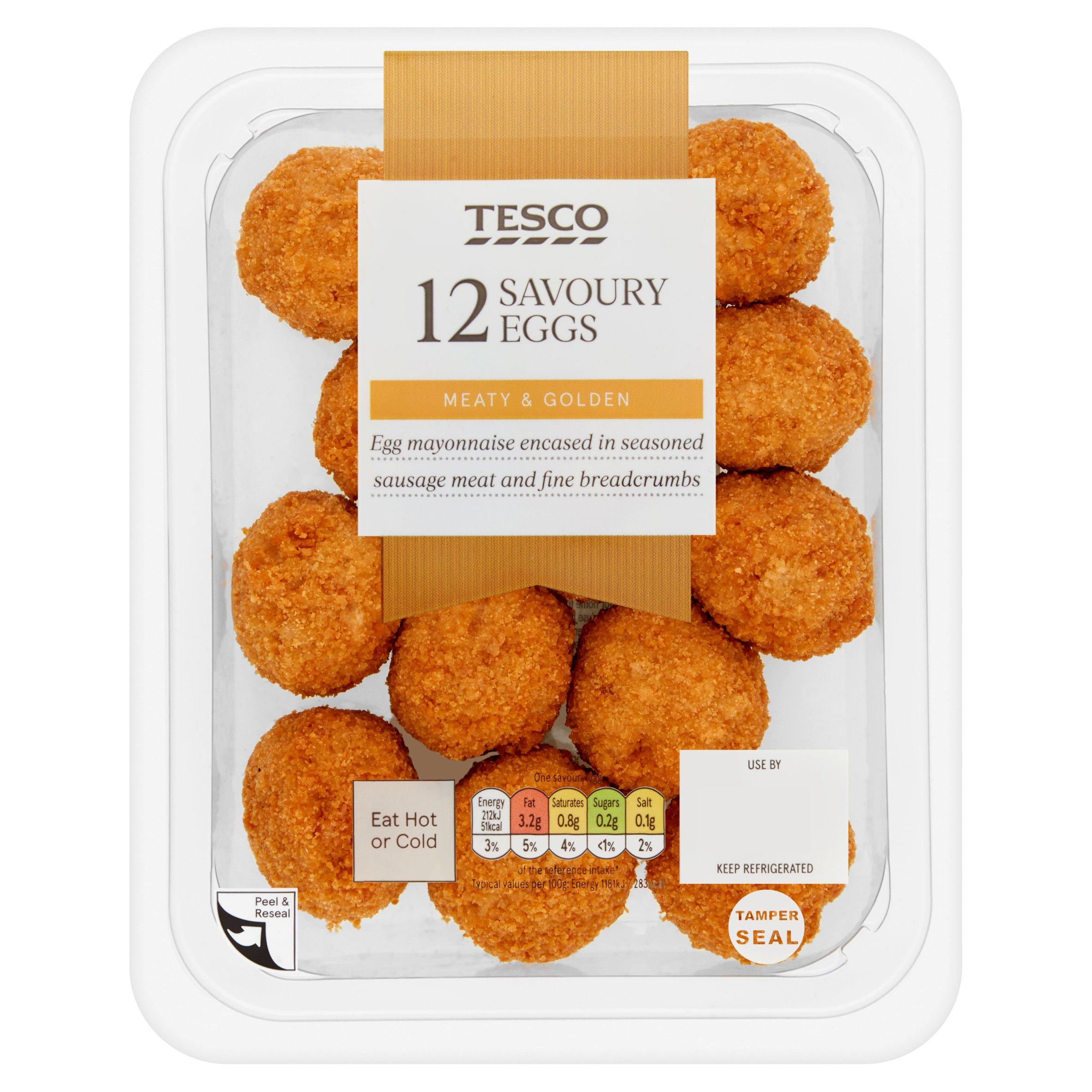 Tesco 12 Mini Savoury Eggs 216G