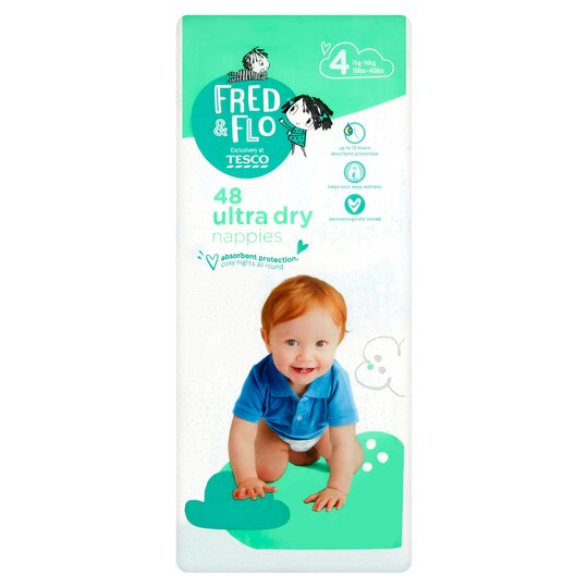 Fred & Flo Ultra Dry Size 4 Nappies 48 Pack