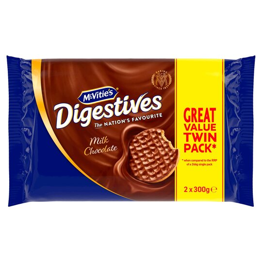 Mcvities Milk Chocolate Digestive Biscuits 2X300g