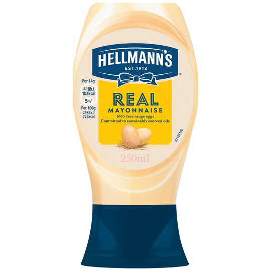 image 1 of Hellmann's Real Squeezy Mayonnaise 250Ml