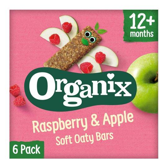 image 1 of Organix 12 Month Apple & Raspberry Fruit & Cereal Bar 6X30g