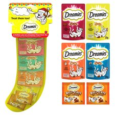 image 2 of Dreamies Christmas Stocking Cat Treats 130G