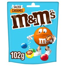 image 1 of M&M's Salted Caramel Chocolate Pouch Bag 102G