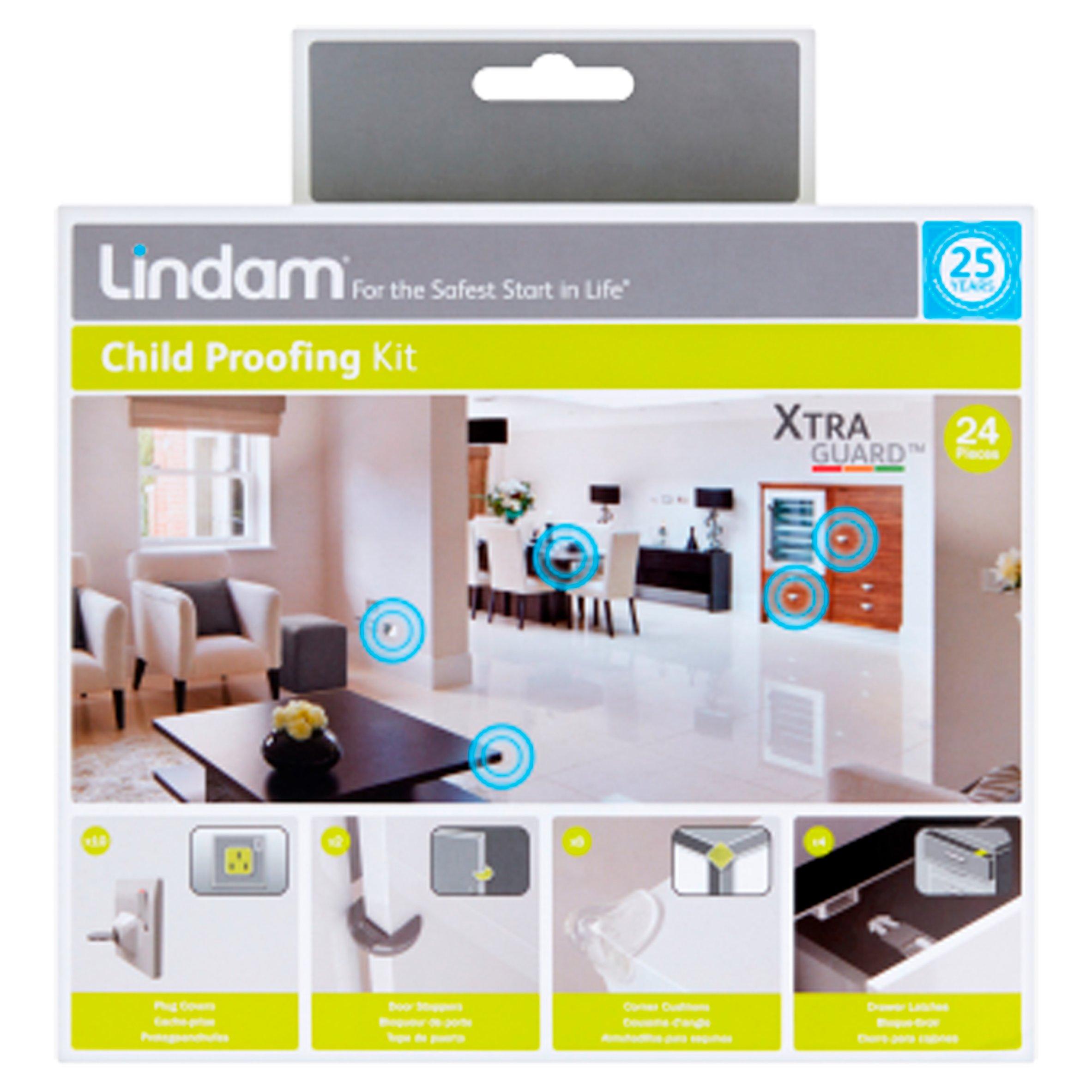 Lindam Xtra Guard Dual Guard Plug Socket Covers Baby Safe x 4