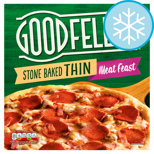 Goodfellas Stonebaked Thin Meat Feast 353G