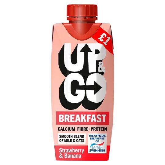 Up&Go Breakfast Drink Strawberry & Banana 330Ml